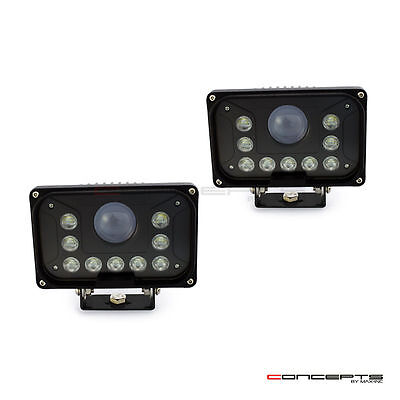 Super Bright LED Rectangle Headlights with Bottom Mounts - 42w