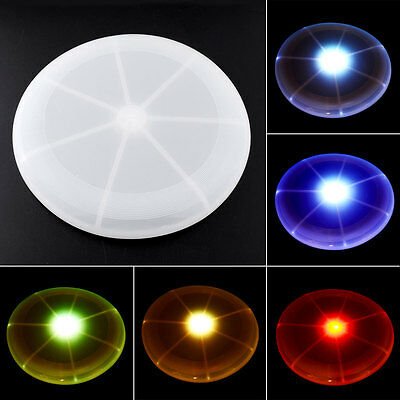 LED Light Up Multi Color Flying Disk Outdoor Toys Beach Stable Frisbee