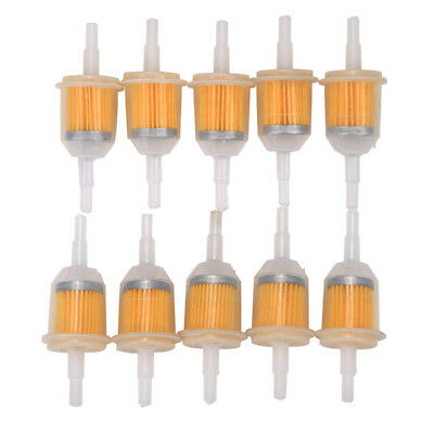 """10pcs Universal Inline Gas/Fuel Filter 6MM-8MM 1/4"""" Lawn Mower Small Engine"""