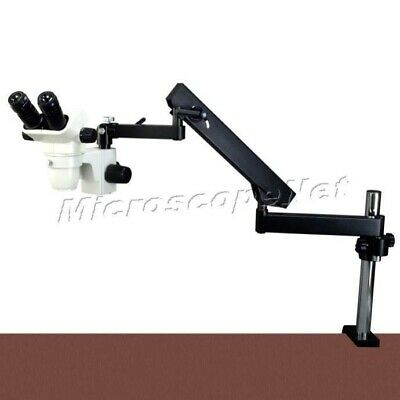 6.7X-45X Zoom Stereo Microscope+Articulating Arm Stand+80 LED Quadrant Ring Lite