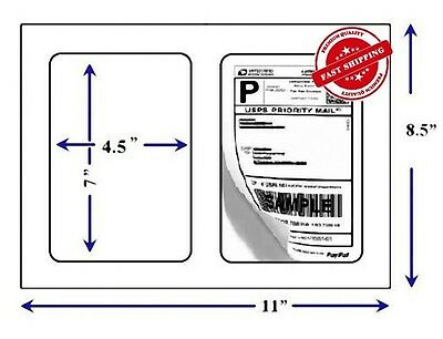 """1000 Quality Round Corner Shipping Labels 2/Sheet 7"""" x 4.5"""""""