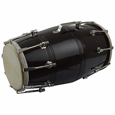 Musical Screw Fitted Dholak Black By Royalchoice