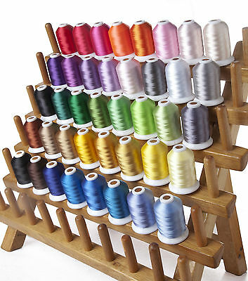 SIMTHREAD 40WT Polyester Embroidery Machine EMB Thread Kit 40 Fantastic Colors