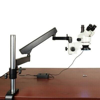 Articulating Arm Boom Stand 144 LED Microscope 3.5-90X