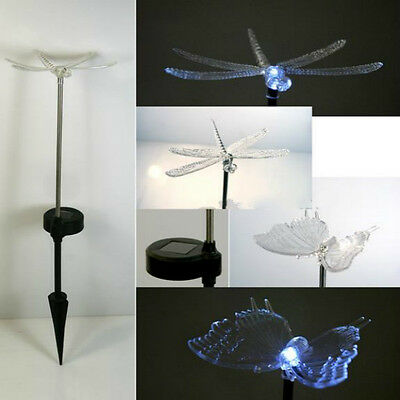 Solar Powered Color Changing LED Light Garden dragonfly butterfly Path Way Decor