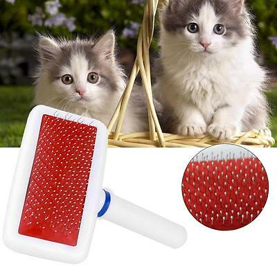 Pet Gilling Professional Pet Hair Brush Side Open Kont Hair Comb Removal Rake EH