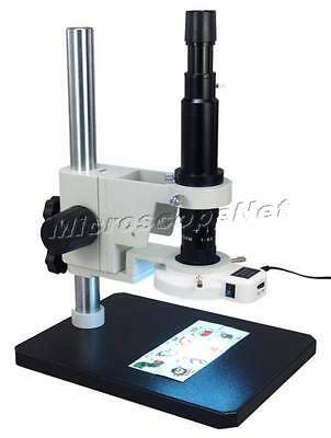Inspection Zoom Monocular Microscope 7X-90X with 54 LED Ring Light