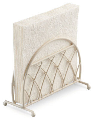 Ambiente Lattice Upright Napkin Serviette Holder Rack Storage Cream Dining Gift