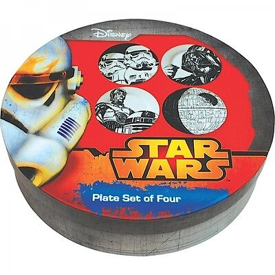 Star Wars Ceramic Plate Set of 4 Plates in Gift Box