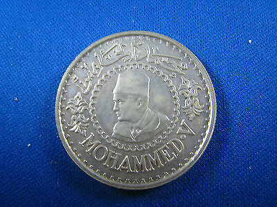 1956 Morocco  500 Francs  Silver  Coin   (Skw14)