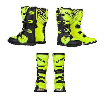 Oneal MX Motocross Rider Adult hi viz yellow riding boots offroad Motocross ATV