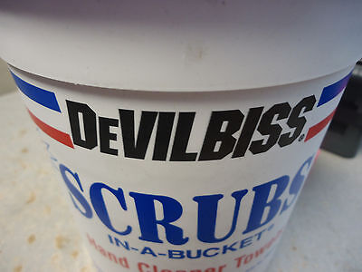 Case of 6 Buckets Devilbiss Scrubs Hand Cleaner Towels 10 x 12""