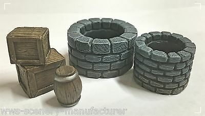 WWS Wells, Crates and Barrell Kit, Scenery Terrain Resin Wargames Railways R3