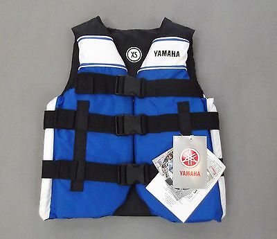NEW:OLD STOCK Yamaha Black/Blue Extra Small XS Bouyancy Aid Life Vest Jacket