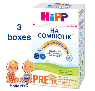 HiPP Combiotic PRE HA First Infant Milk HYPOALLERGENIC FREE SHIPPING 3 BOXES