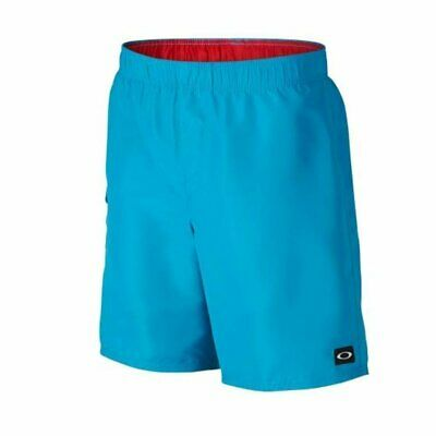 Oakley Classic Volley 18 Pacific Blue Ss 2016 Costume New S M L Xl Surf Skate