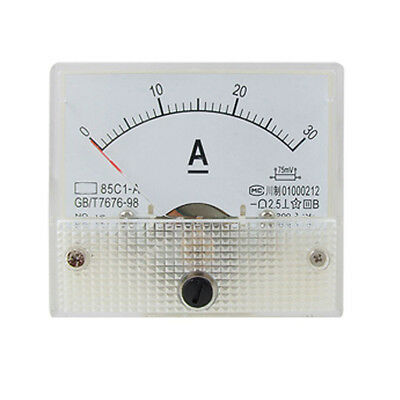 85C1 Analog Current Panel Meter DC 30A AMP Ammeter YM