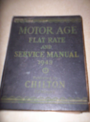 1948 Motor Age Flat Rate and Service Manual BOOK  by Chilton VERY LARGE