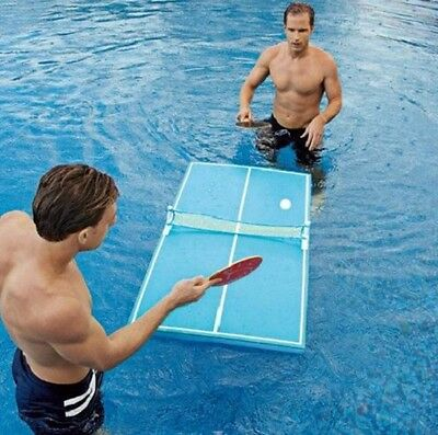 Swimline Floating Pool Ping Pong Beer Table Tennis Game Paddles Party Snack 9164