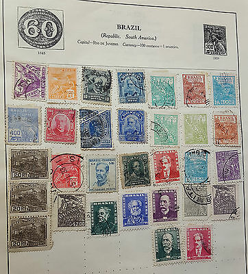 Job Lot Of Early Stamps On Paper - Brazil - Rare Used Stamp Postal History