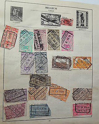 Job Lot Of Early Stamps On Paper - Belgium - Rare Used Stamp Postal History