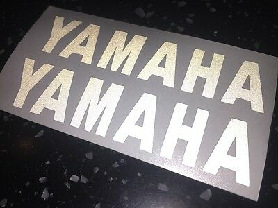 2x YAMAHA Reflective SAFETY Motorcycle Helmet Stickers Hi Viz graphics
