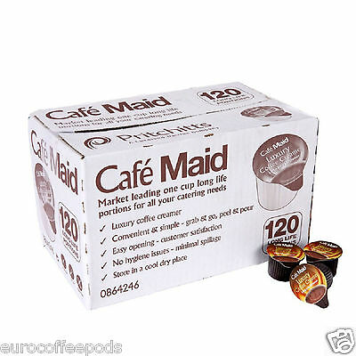 240 Cafe Maid Luxury Coffee Creamer Long Life Individual Portions 240 x 12Ml