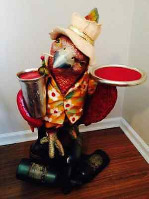 Parrot Jimmy Buffet Style Margaritaville 3' Parrot Butler Drink Server Pool Bar