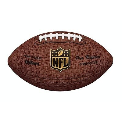 Wilson Nfl Duke Replica Premium Leather Composite American Football, Wtf1825