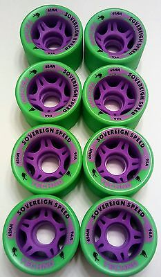 8-Pack 62mm Gravity Roller Skate Wheels-94a quad derby jam speed indoor outdoor