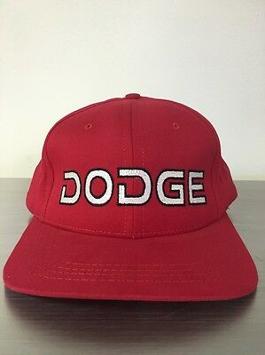 Red Dodge Hat / Cap  Grab Life by the Horns MADE IN THE USA
