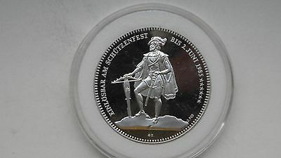 1985 Switzerland Shooting Thaler Silver Proof coin
