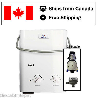 Eccotemp L5 Water Heater Shower Bundle with 12v Pump & Strainer *NEW*