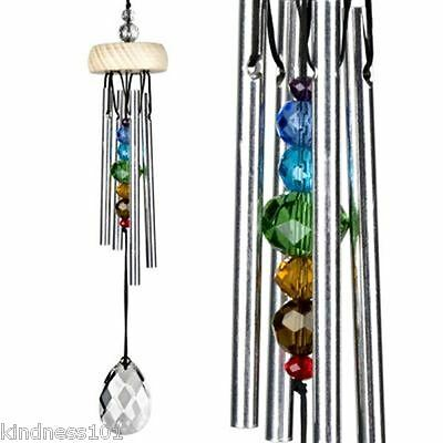 Woodstock Crystal Wind Chime with Chakra Rainbow Chimes Fairy Sound