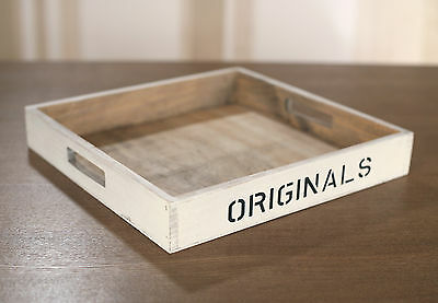 Drinks Tray Rustic Country Style Picnic Tray Provincial Home Decor 30cms NEW