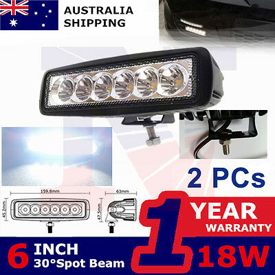 2x18W LED Work Light Bar Pickup Offroad12V tractor motorcycle Quad SUV Spotlight