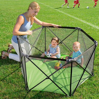 Pop and Play Playpen, Foldable Portable Play Pen for Indoor & Outdoor Use