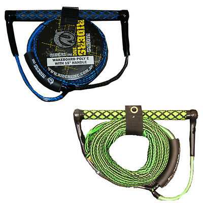 "Riders Inc Wakeboard Kneeboard Rope with 15"" EVA Handle Asst Colors"