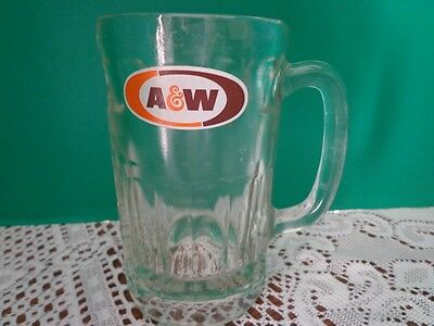 Vtg A&W Glass Mug Tumbler Rootbeer Float Glassware Heavy