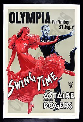 SWING TIME * CineMasterpieces 1936 DANCE DANCING MOVIE POSTER FRED ASTAIRE