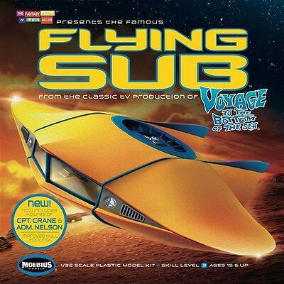 Moebius Voyage To The Bottom of the Sea 1/32 VTTBS Flying Sub, revised 817