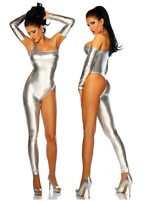 Fashion Ladies Womens Hot Sexy Club Dance Rompers Catsuit Jumpsuit Shiny 4 Color