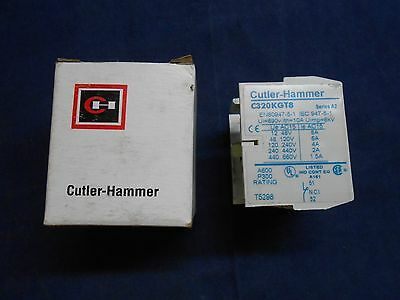 New In Box CUTLER-HAMMER C320KGT8 Top Mounted Auxiliary