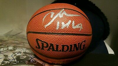 Official nba mini basketball authentic autographed by nba hofer charles barkley
