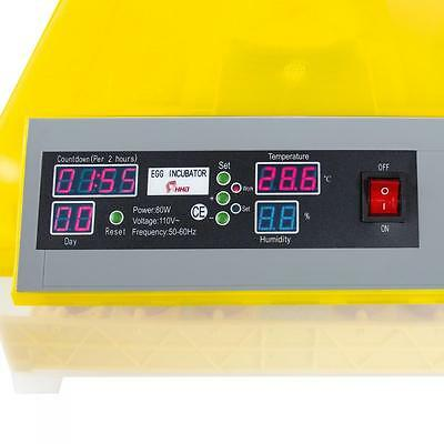 Digital Egg Incubator Automatic Turning 48 Eggs Poultry Hatcher Chicken Bird US