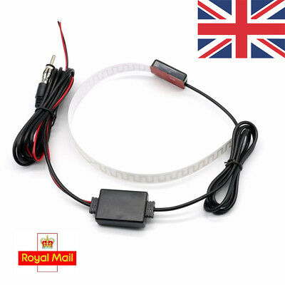 UK Electronic Stereo Radio FM Hidden Antenna Aerial Universal For Car Vehicle