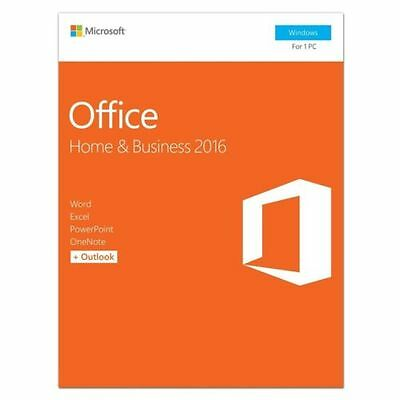 Microsoft Office Home and Business 2016 Product Key Card - T5D-02776