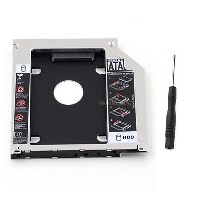 """Pro 2.5"""" SATA 2nd SSD HDD Caddy Bay Hard Drive For 9.5mm Universal Apple Macbook"""
