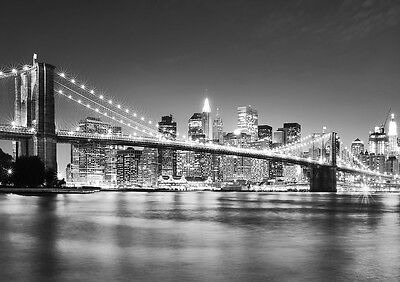 BROOKLYN BRIDGE MANHATTAN Photo Wallpaper Wall Mural NEW YORK CITY  335x236cm