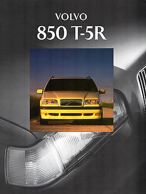 Volvo 850 T5 R Limited Edition 1994 UK Market Sales Brochure Saloon Estate